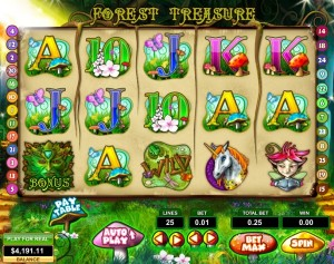 forest treasure screen