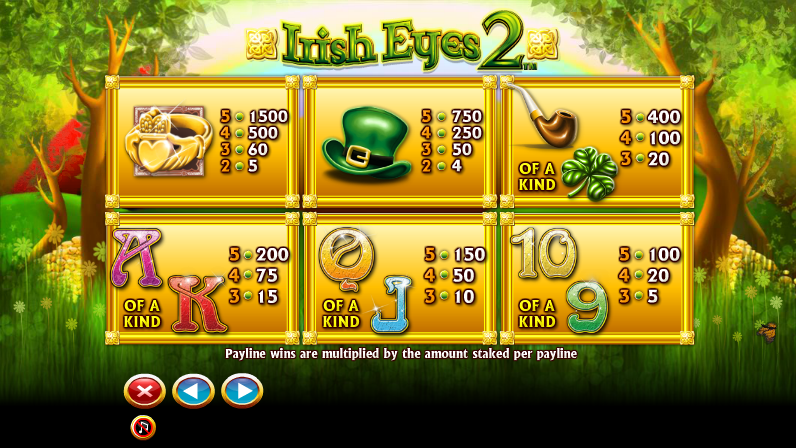 irish-eyes-2-slot-paytable